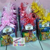 paket souvenir ulang tahun tas tenteng dan snack