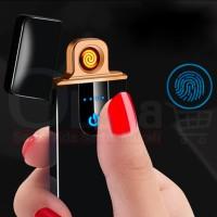 Korek Api Elektrik USB Fingerprint Touch Sensor LED Display Power