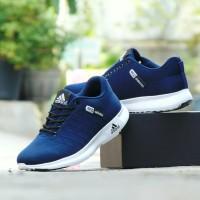 Sepatu Pria Adidas Neo Sport Casual Biru Navy Santai Olahraga