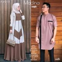 FREE ONGKIR Batik Couple Gamis Syari Madina Modern