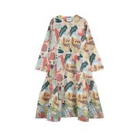 Nadjani - Dress Linary Poplin - Peach
