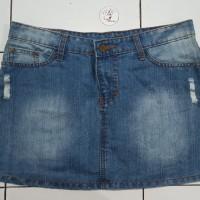 *Preloved* Rok Denim pendek Jeans span model sobek