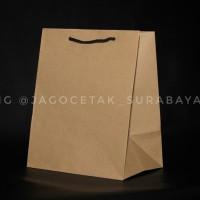 paperbag 18x12x22 PxLxT craft coklat polos paper bag