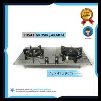 Harga Terbaik Pusat Grosir Jakarta - Kompor Tanam Kaca 2 Tungku Api