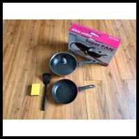 Best Seller Super Pan Keramik Set Black Pink Original Bolde 5 Pcs