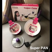 Diskon 5Pcs Super Pan Keramik Purple Set 5 Original Bolde Panci