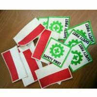 Badge Logo Bendera Merah Putih dan K3 Safety First