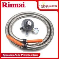 SELANG GAS + REGULATOR RINNAI RG-622MS / RG 622 MS [Paket Meteran]