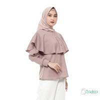 Atasan Muslim Wanita | Button Cape | Blouse Original | Tazkia Hijab