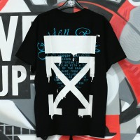 Off White DRIPPING ARROWS Black Tee 100% Authentic