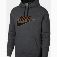 Jaket Sweater Hoodie Nike Cotton Graphic Fleece Pullover Red