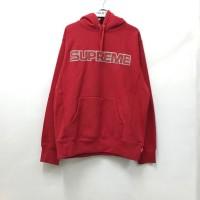 Supreme Perforated Leather Hoodie - Red 100% Original