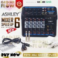 Mixer ASHLEY SPEED UP 6 Channel Audio Interface Amplifier GARANSI