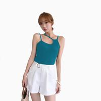 Tanktop Singlet Tali kecil Wanita Gaya Korea - Jfashion Loli