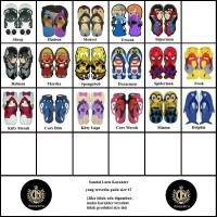 Size 42 Sandal Sancu Karakter / Sandal Lucu