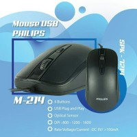 mouse philips usb M214