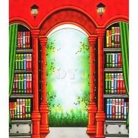 Background Foto Inkjet Uk. 2,6x3 Mtr Wisuda Rak Buku RK-001