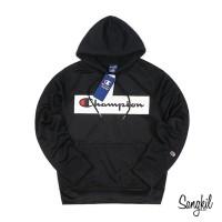 Champion Logo Print Pullover Parka Black - XXL