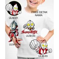 Kaos Baju tshirt anak Cusom Little Ultramen