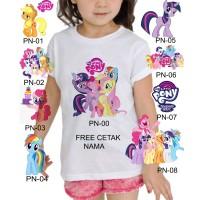 Kaos Baju tshirt anak Cusom Little pony / kuda pony