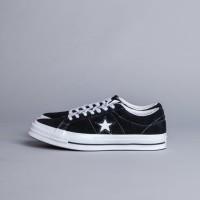 Sepatu Pria Converse One Star Ox Suede Black White Original 100% BNIB!