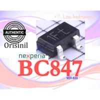ORIGINAL BC847 1F BC847BW 45V 100mA NPN Transistors SOT-323 Nexperia