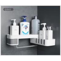 corner shower rotary shelf rack corner - rak sudut kamar mandi diputar