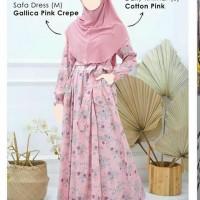 safa dress, gallica pink crepe, dress atelier angelina, gamis AA