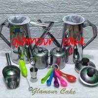 teko thai tea paket kumplit 1 jigger+1 hand mixer+1 sendok takar