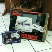 Game Console Super Nintendo SNES Original Full Set Made In Japan