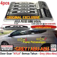 aksesoris pelindung pintu mobil door guard ayla exclusive grey abu-abu