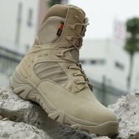 Sepatu Delta 8 Inchi Tactical Boots Panjang Coklat Original Import
