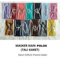 [READY STOCK] Masker Kain Polos Bahan Oxford Premium (BISA DICUCI)