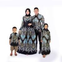 gamis batik couple ayah ibu dan hem anak dan gamis anak baju keluarga