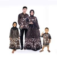 baju batik couple keluarga ayah ibu dan hem anak dan gamis anak