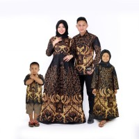 baju batik couple keluarga ayah ibu dan anak laki dan anak perempuan