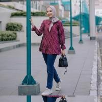 Print Blouse Vanilla Hijab