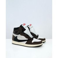 Nike Air Jordan 1 Retro High Travis Scot - Sail Black Dark Mocha
