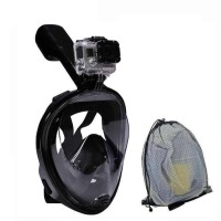 Alat Snorkling Snorkel Full Face Easybreath Dengan mount Camera