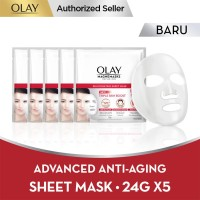 Olay Magnemask Infusion Advanced Anti Aging 24g Paket Isi 5