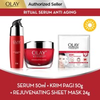 Olay Ritual Serum Anti Aging + Rejuvenating Sheet Mask 24g