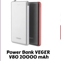 Power bank veger v80 20000 mAh slim cuyy