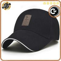 Topi Premium Pria Wanita Baseball Golf Sport Fashion - Hitam