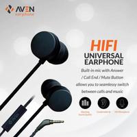 Earphone AVEN N18 Sport Sound Nylon Headset Cable Premium - Black