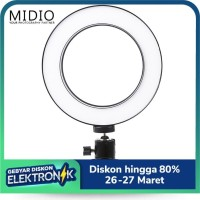Lampu LED Midio RingLight Selfie 3Mode Dimmable with Ball Head for Cam