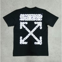 Off White SS20 Airport Tape Slim Tee Black 100% Authentic
