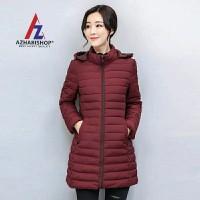 jaket winter wanita musim dingin jubah anti air