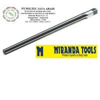 Hand taper pin reamer 6mm HSS Cobalt merk Miranda Tools (India)