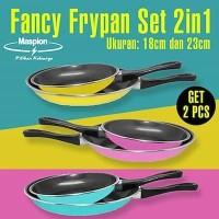 Maspion FANCY FRY PAN Set 2in1 - Teflon Warna 18cm dan 23cm