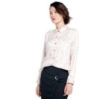 Kemeja Wanita EDITION EB50ORANGE Floral Outline Shirt